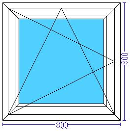Пластиковое окно 800×800 мм